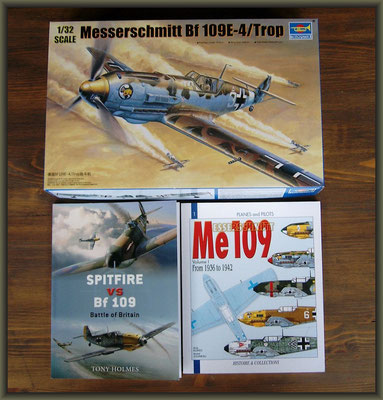 Me 109E-7 Tropical, Diorama 1/32