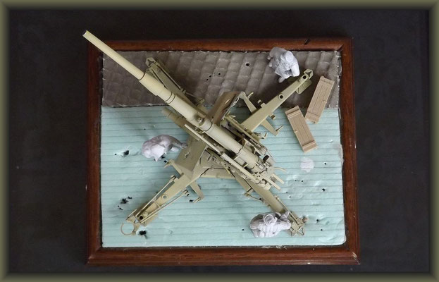 88mm Flak 37 ; Diorama 1:35 ; 3. Stage