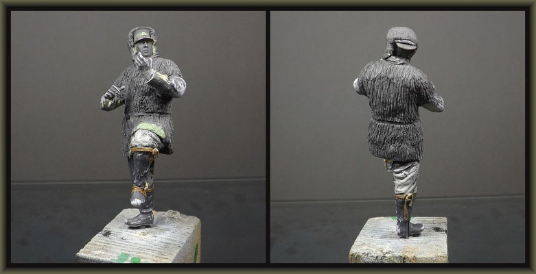 WWI Vignette ; 54mm Airfix Figure Conversion ; 4. Stage