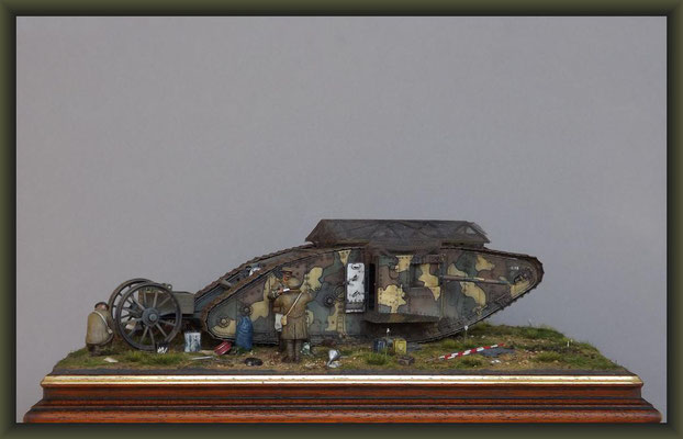 """Alpha Male"", Mk I Male Tank, Diorama 1:35, Completion"