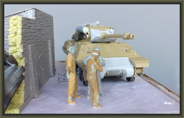 Achilles British Tank Destroyer ; Diorama 1/35 ; Building Stages