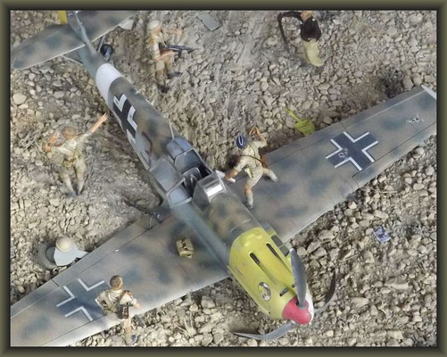 'Out Of The Blue', Me 109E-7 Tropical, Diorama 1/32, Completion