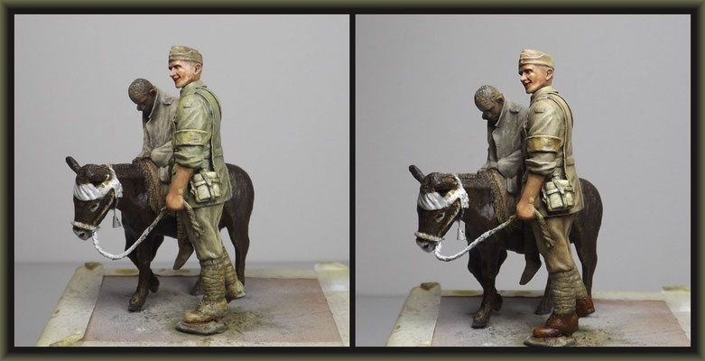 WWI Vignette ; 54mm Airfix/Tamiya Figure Conversion ; 4. Stage