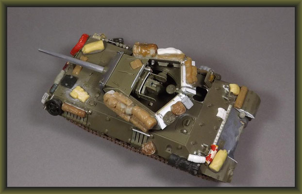 M10  T.D.  G.M.C., Diorama 1:35, Building Stages