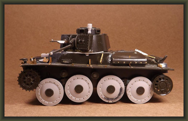 PzKpfw 38 (t), Diorama 1:35, Building Stages