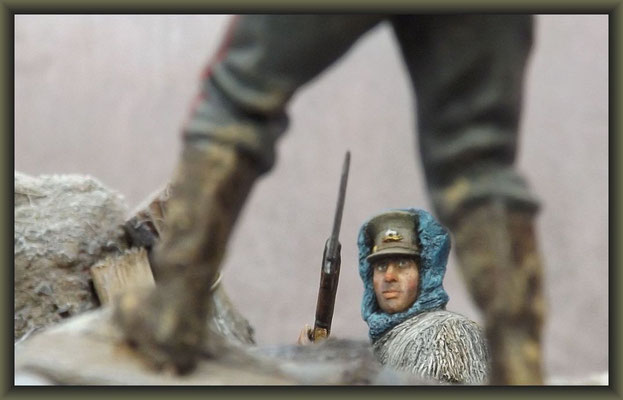 'The Visitor' ; WWI Vignette ; 54mm Airfix Figure Conversion ; Completion