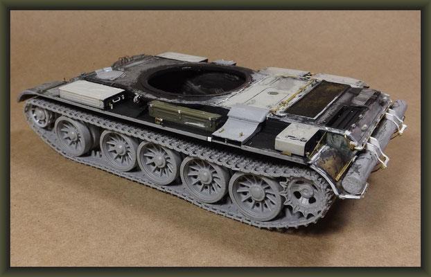 T-54-3 Tank, Diorama 1:35, Stage 6
