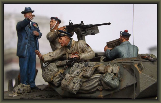 """What the ... !! ""; M-10 Tank Destroyer ; Diorama 1:35 ; Completion"