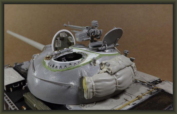 T-54-3 Tank, Diorama 1:35, Stage 7