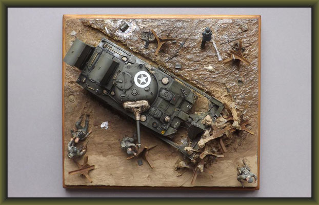 "M4 Sherman Dozer w. Deep Wading Kit / ""Shore Leave"" Diorama 1:35 Completion"