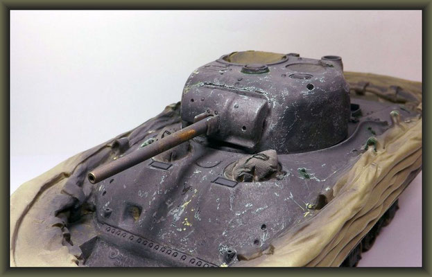 Sherman M4A1 (Large Hatch) DD ; Diorama 1:35 ; 6. Stage