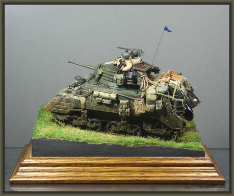 'Toujours Pret' ; M5A1 Stuart ; Diorama 1/35 ; Completion
