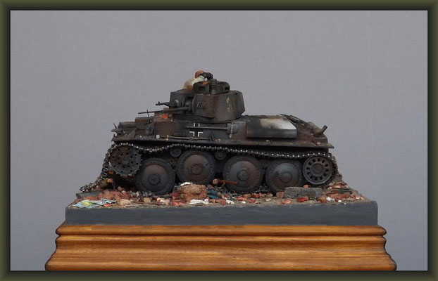 Travellers Czech, PzKpfw 38 (t), Diorama 1:35, Completion