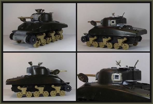 Sherman M4A1 (Large Hatch) DD ; Diorama 1:35 ; 4. Stage