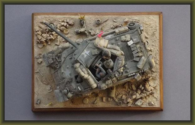 Dust Bowls, M10  T.D.  G.M.C., Diorama 1:35, Completion