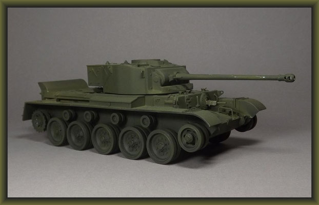 British Cruiser Tank A34 Comet Diorama 1:35 Building Stages