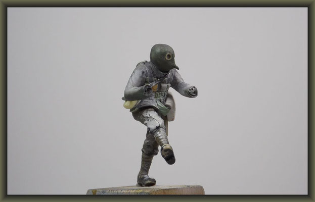 WWI Vignette, 54mm Figure Conversion, Stageing