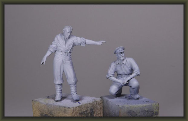 WWI Tunnel Warfare, 54mm Vignette, Building Stages