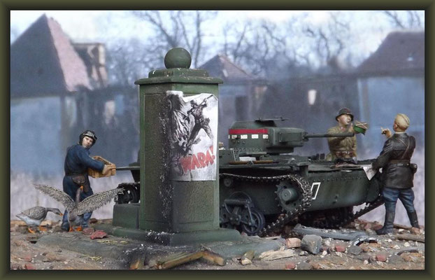 Backstabbers, T-38 Tank, Diorama 1:35, Completion