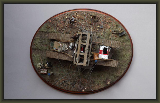 Gulliver's Travels, British Mark V 'Male' Tank, Diorama 1:35