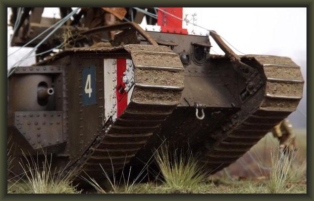Gullivers Travels, British Mark V 'Male' Tank, Diorama 1:35