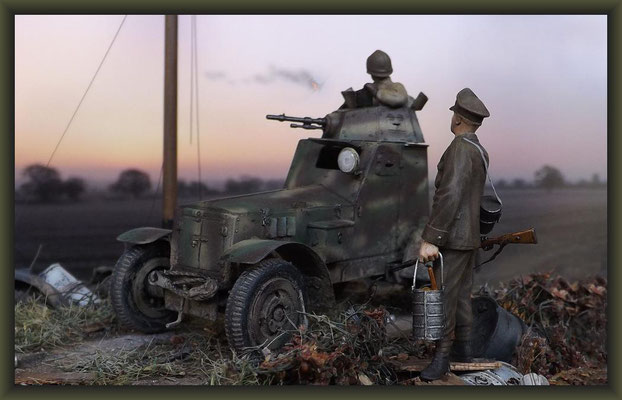 Cannery Row, Polish Armored Car Wz.34, Diorama 1:35, Completion