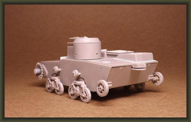 T-38 Soviet Light Amphibious Tank, Stage 2