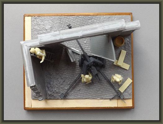 7,5-cm-PaK 40 ; Diorama 1/35 ; Staging