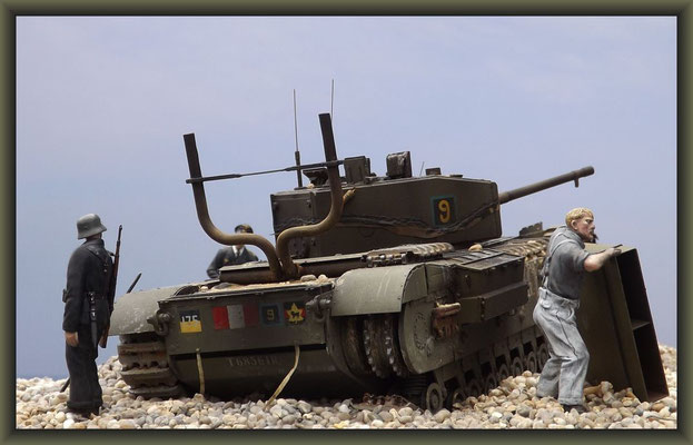 Sticks & Stones ; Churchill Mk.III  Dieppe Raid ; Diorama 1:35 ; Completion