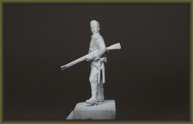 Airfix 54mm American Soldier 1775 Figure Conversion Building Stages