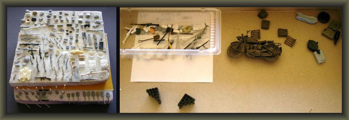 Sherman ARV & M8 HMC; Diorama 1/35 ; Staging