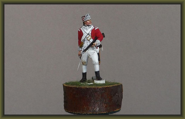 """""""Jack 'O' The Green"""" Airfix 54mm American Soldier 1775 Figure Conversion"""