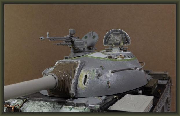 T-54-3 Tank, Diorama 1:35, Stage 7