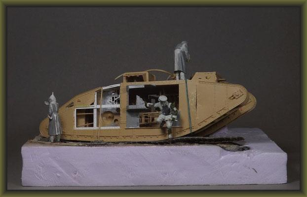 British Mk. V Tank 'Hermaphrodite' Diorama 1:35 Building Stages