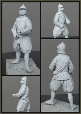 Old Shako Figure ; Building Stages