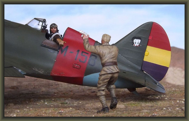 Rat Race ; Diorama ; Polikarpov I-16 Type 10 ; 1/32 , Azur ; Completion