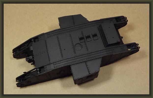 British Mk I 'Male' Tank, Diorama 1/35, Stage 12