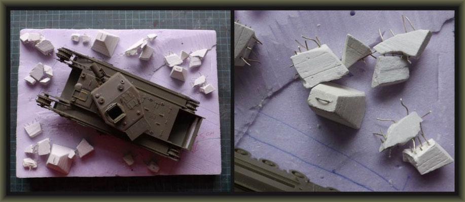 Churchill Mk III AVRE 'Petard' ; Diorama 1/35 ; 2. Stage