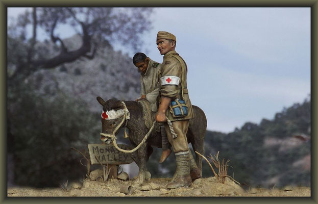 'Bahadur' ; WWI Vignette ; 54mm Airfix /Tamiya Figure Conversion ; Completion