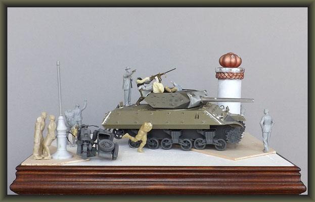 M-10 TD ; Diorama 1:35 ; Stage 3