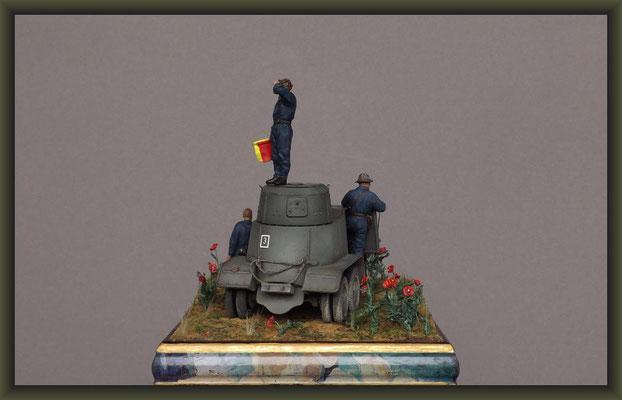 Door Steppes, Soviet BA-10A, Interwar Diorama 1:35
