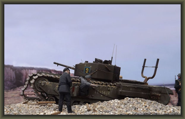 Sticks & Stones ; Churchill Mk.III  Dieppe Raid ; Diorama 1:35 ; Completion