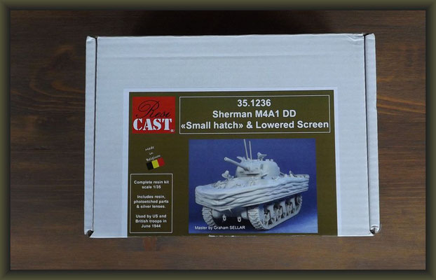Resicast 351236 Sherman M4A1 DD <<Small hatch>> & Lowered Screen