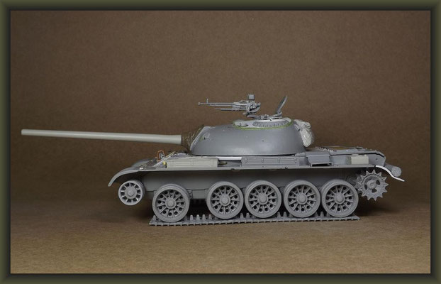 T-54-3 Tank, Diorama 1:35, Building Report Part 4