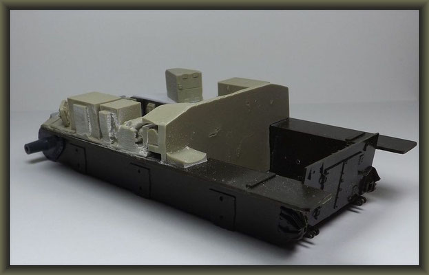 Sherman M4A1 (Large Hatch) DD ; Diorama 1:35 ; 2. Stage