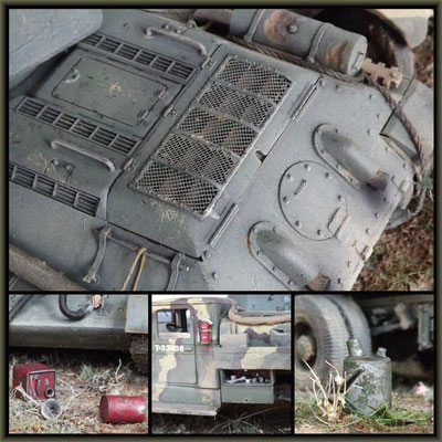 'Heavy Fuel' ; T-34/76 OT34 & ZiS-5V BZ ; Diorama 1/35 ; Completion