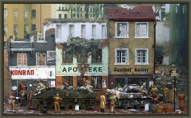 'Gost Riders' ; Sherman ARV & M8 HMC; Diorama 1/35 ; Completion