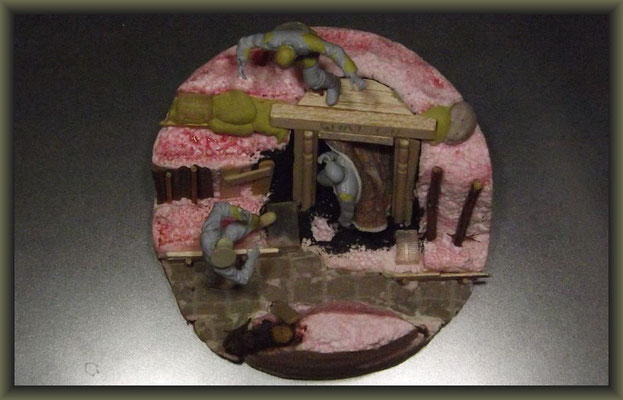 WWI Vignette ; 54mm Airfix Figure Conversion ; 2. Stage