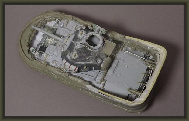 Sherman V (M4A4) DD, Diorama 1:35, Building Report