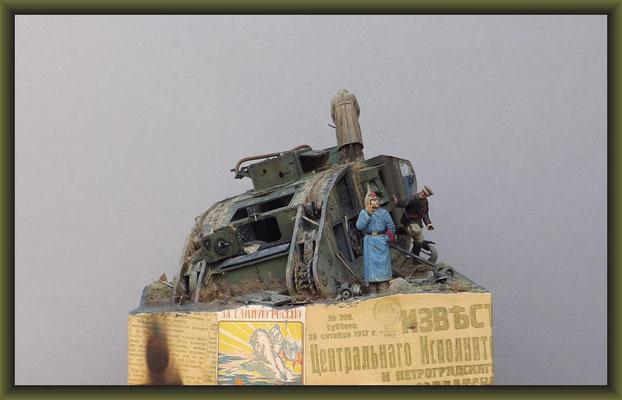 """Cannibals"" British Mk. V Tank 'Hermaphrodite' Diorama 1:35"